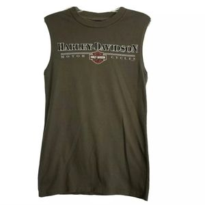 Harley Davidson Muscle Tank Top Graphic Shirt Logo